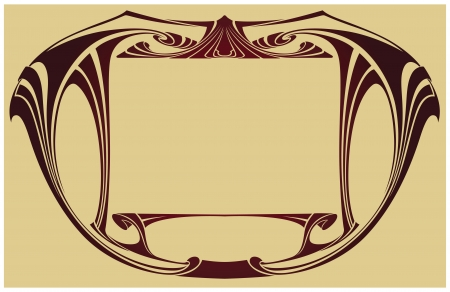 Abstract framework from the bound lines in style art-nouveau Vector