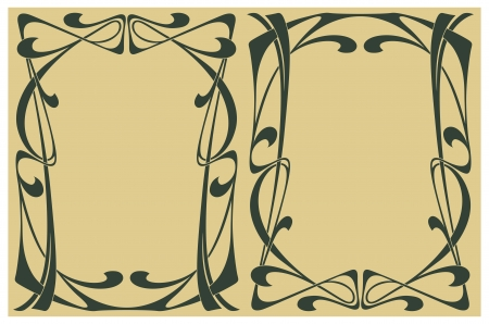 art deco border: Abstract from the bound lines in style art-nouveau