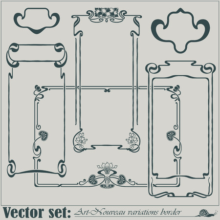 art deco border: Abstract framework from the bound plants in style art-nouveau Illustration