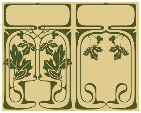 artnouveau: Abstract framework from the bound plants in style art-nouveau Illustration