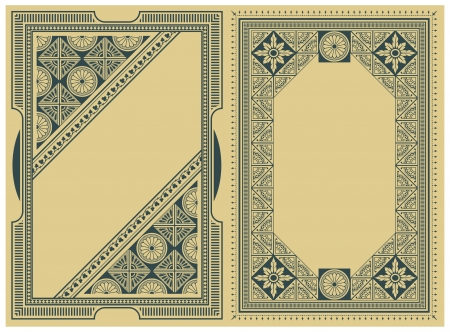art deco border: Abstract framework of geometric shapes for envelope, invitations or greeting cards