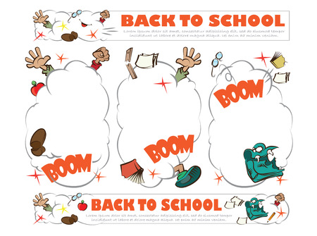 Template for decoration and design theme back to school Vector