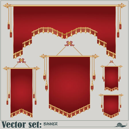 vector set. banners of different shapes and sizes for the design and presentation of your work. Vector