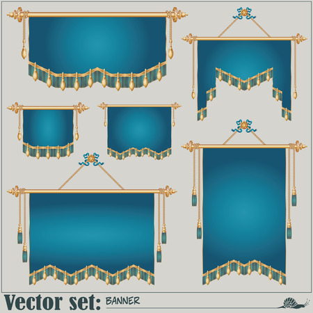 banners of different shapes and sizes for the design and presentation of your work. Vector