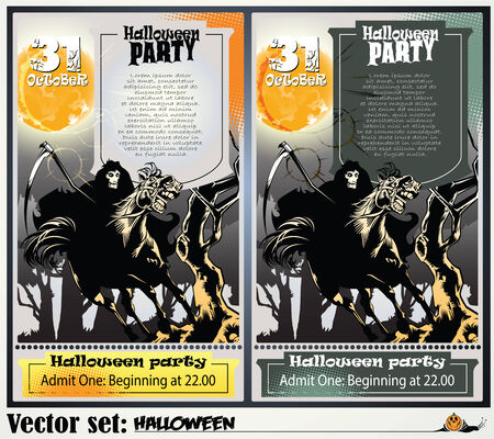 abbildung: Invitation to a party in honor of a holiday Halloween