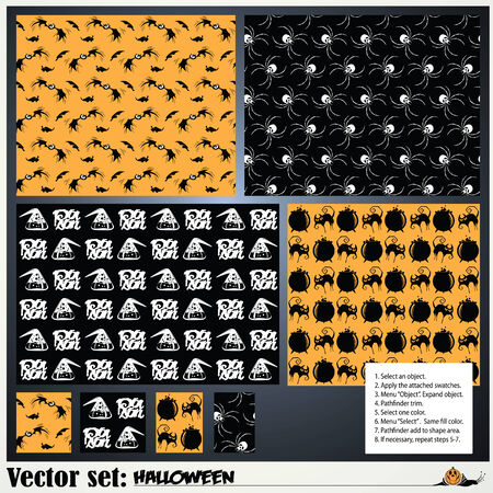 abbildung: vector set: pattern to prepare for the holiday Halloween Illustration