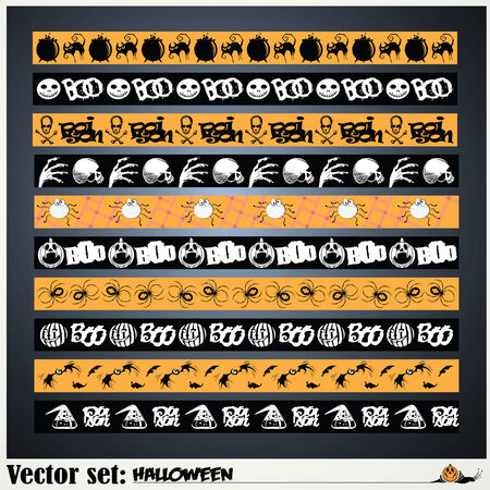 prepare: vector set: pattern to prepare for the holiday Halloween Illustration