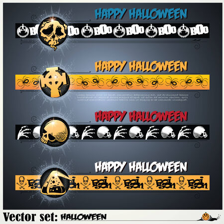 abbildung: vector set: banners to prepare for the holiday Halloween