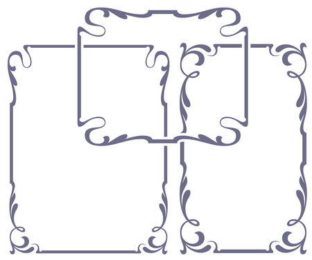 Vector abstract framework from the bound plants for decoration and design Vector