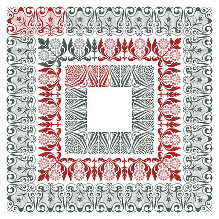 artnouveau: Vector ornament pattern in the art-nouveau style for decoration and design