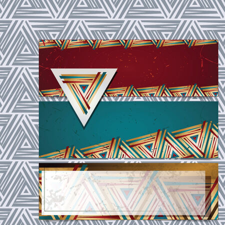 basis: Vector banners on the basis of geometric shapes for decoration and design + pattern Illustration
