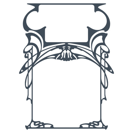 art nouveau border: Vector abstract framework from the bound plants for decoration and design
