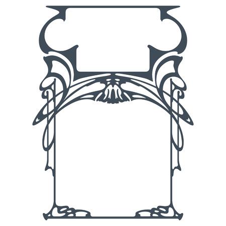 stile liberty: Vector quadro astratto dalle piante associate per la decorazione e design