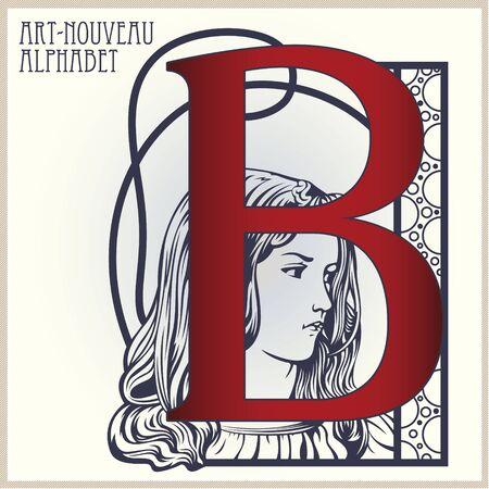 artnouveau: Vector Initial of the English alphabet of art-nouveau (based on original letters)