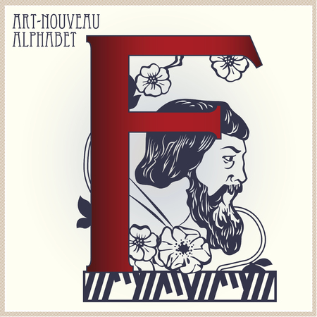 artnouveau: Vector Initial of the English alphabet of art-nouveau (based on original letters)