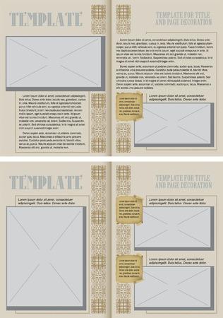 peri�dico: Livreto Template no estilo vintage. Pronto para seu projeto. Ilustra��o do vetor.