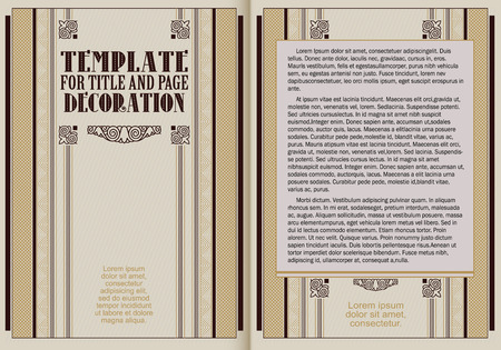 periodical: Template booklet in vintage style. Ready for your design. Vector illustration.