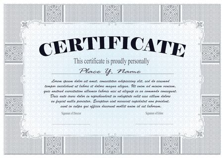 amount: Vector template for the design of certificate, advertisements, envelope, invitations or greeting cards