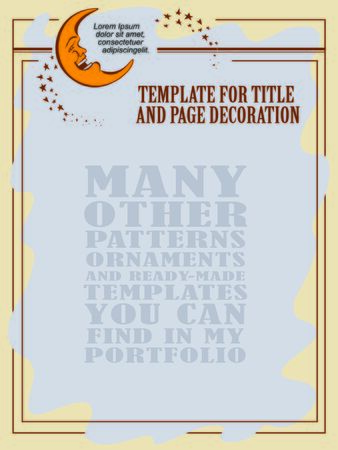 advertisements: Template flayer, advertisements, invitations or greeting cards. Cheerful moon and stars. Vector illustration.