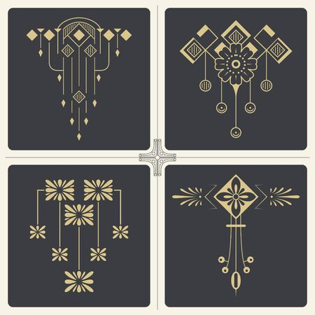 Vector stock illustration. Abstract ornaments for design of printed and web products.