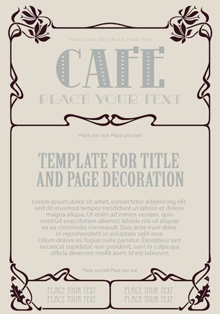 advertisements: Vector background. Template advertisements, envelope, menu, invitations or greeting cards