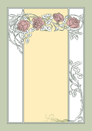 advertisements: Vector background. Template advertisements, envelope, wedding, invitations or greeting cards Illustration