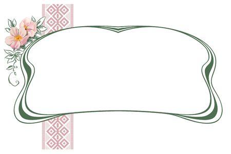 borde de flores: Resumen de vectores marco de las plantas y flores con destino para la decoración y diseño