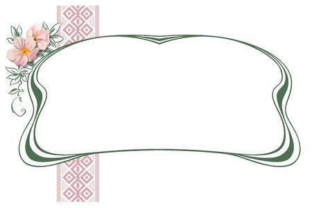 art nouveau design: Vector abstract framework from the bound plants and flowers for decoration and design Illustration