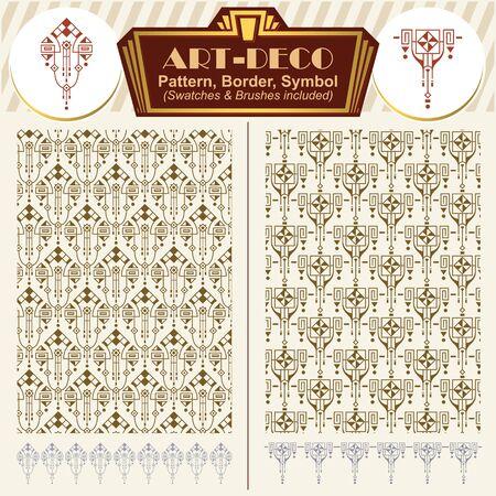 artnouveau: Vector ornaments. Elements art-deco style. Pattern, brush, symbol