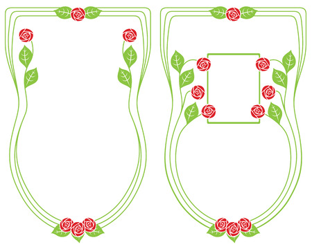 bound: Vector abstract framework from the bound plants and flowers for decoration and design Illustration