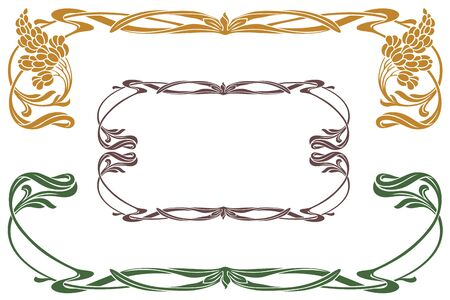 decoration design: Vector abstract framework from the bound plants and flowers for decoration and design Illustration