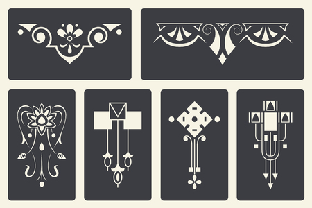 artnouveau: Vector stock illustration. Abstract ornaments for design of printed and web products.
