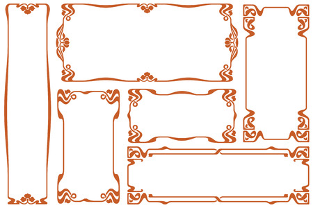 bound: Vector abstract decorative label from bound lines and flowers