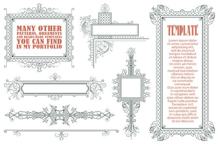 Vector template for the design of advertisements, flayer, web, envelope, wedding  and other invitations or greeting cards