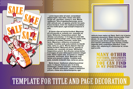 orchestra: vector template booklet with orchestra going on sale. Illustration