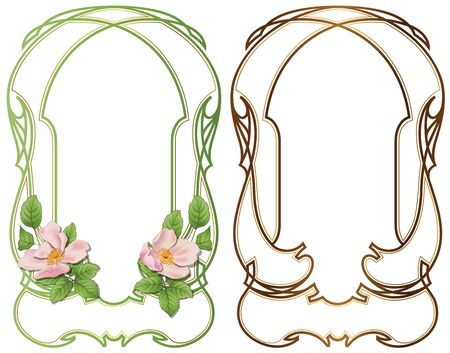bound: Vector abstract framework from the bound lines and flowers for decoration and design