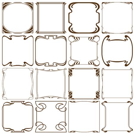 artdeco: Vector corners to create a frame. Illustration