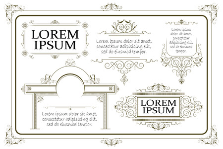 amount: Advertisements, flyer, web, wedding  and other invitations or greeting cards. Vector template.