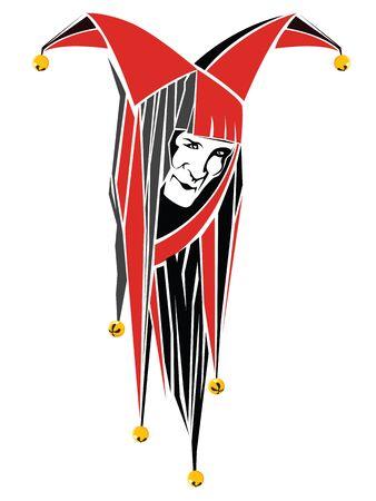 clown face: Vector illustration. Abstract clown face