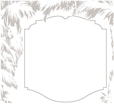 sfondo giungla: Vector illustration. Jungle background with label for text Vettoriali