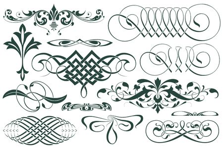 art nouveau border: Advertisements, flyer, web, wedding  and other invitations or greeting cards. Vector template.