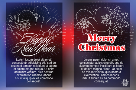 celebratory: Celebratory background with symbols of Christmas and New Year. Illustration
