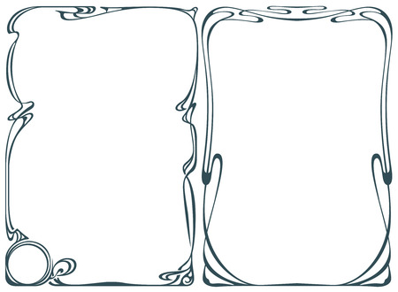art nouveau border: Vector abstract framework from the bound flowers and plants for decoration and design Illustration