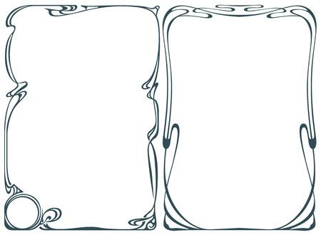 Vector abstracte kader van de gebonden bloemen en planten voor decoratie en ontwerp