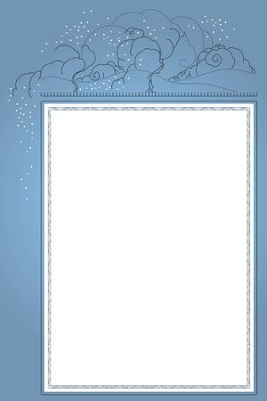 fine lines: Template flyer. Elegant background with fine lines with place for congratulations. Winter.
