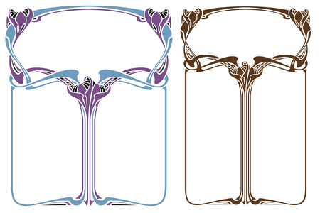 bound: Vector abstract framework from the bound flowers and plants for decoration and design Illustration