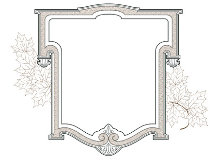 decoration design: Vector abstract framework from the bound flowers and plants for decoration and design Illustration