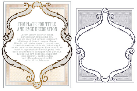Advertisements, flyer, web, wedding and other invitations or greeting cards. Vector template. Stok Fotoğraf - 54369182