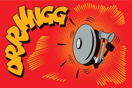 Stock illustration. Voorwerp in retro stijl pop art en vintage reclame. Brandalarm apparaat