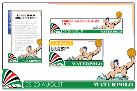 polo ball: Summer kinds of sports. Water polo. Illustration